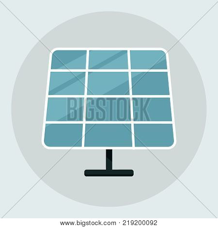 Solar energy panel. Solar panel icon isolated on the grey background. vector illustration