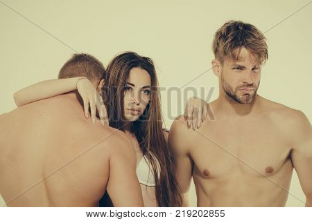 Girl With Long Hair Lie On Back