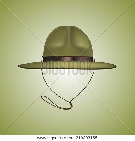 Scout hat. Beautiful green military hat or a scout