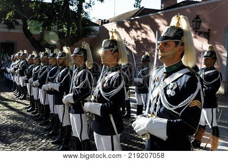 Honor Guard In Lisbon, Portugal
