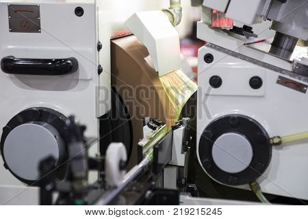 high precision centerless grinding CNC machine ; close up