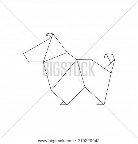Dog Origami Style Vector Photo Free Trial Bigstock