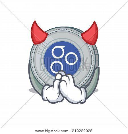 Devil OmesiGo coin character cartoon vector illustration