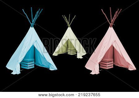 tents Indigenous peoples of the Americas style isolated on white background