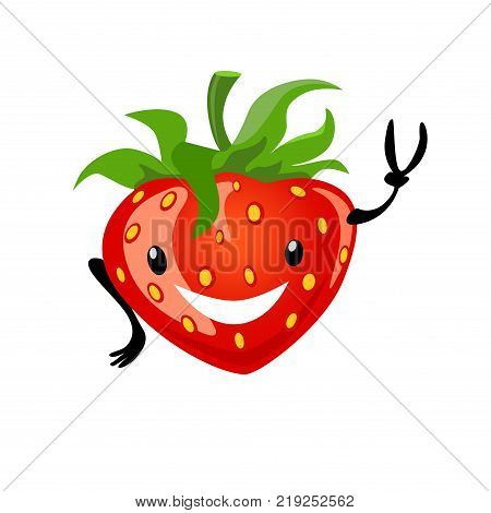Strawberry Having Fun Vector Photo Free Trial Bigstock Express yourself with cute strawberry emojis!! strawberry having fun vector photo