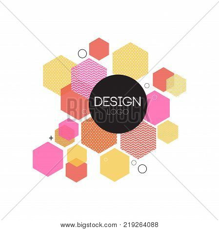 Design logo template, colorful abctract element for brand, company identity, business logotype vector Illustration on a white background