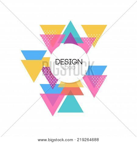 Design logo template, colorful abctract geometric element for brand, company identity, business logotype vector Illustration on a white background