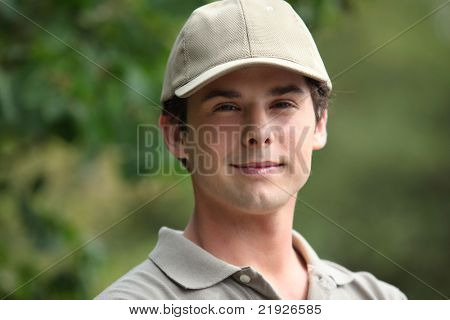 Portrait of a boyish looking man