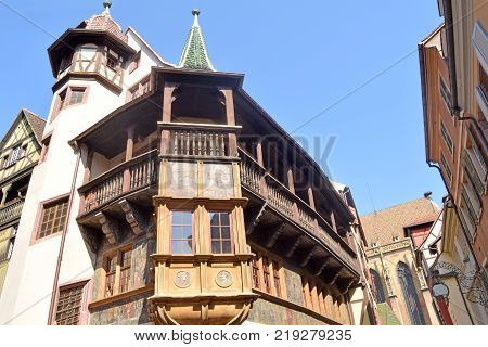 An ancient and historic palace in Strasbourg - Alsace - France
