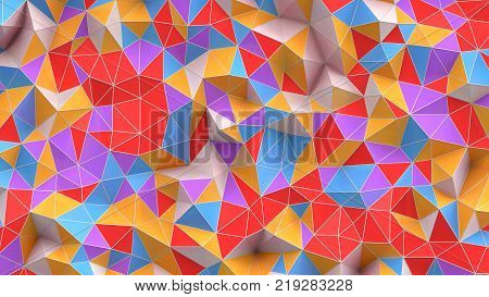 3d illustration. 3d Abstract background with polygons