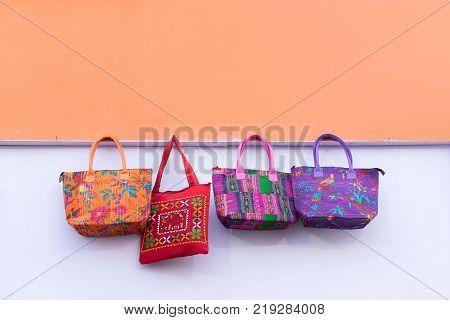 Hand made Jute bags artworks of handicraft Handicraft Fair in Kolkata - the biggest handicrafts fair in Asia.