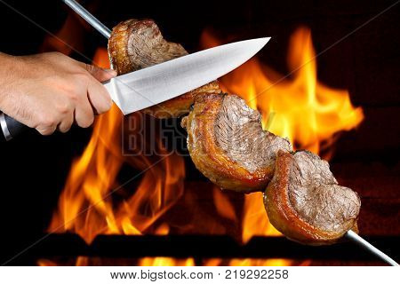 Delicious Picanha at the steakhouse