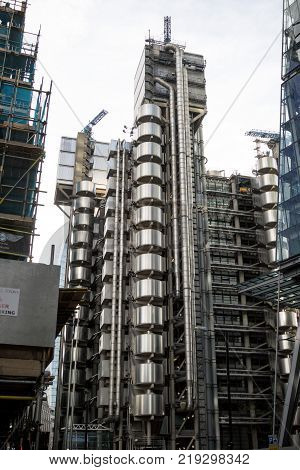 London United Kingdom - October 30th 2017:- The Lloyds of London insurance building