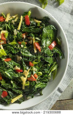 Homemade Organic Green Collard Greens