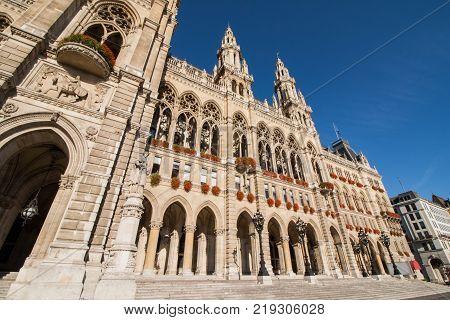 Historic Building - City Hall Vienna District Innere Stadt Austria in Europe