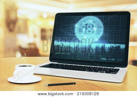 Glowing Bitcoin Wallpaper