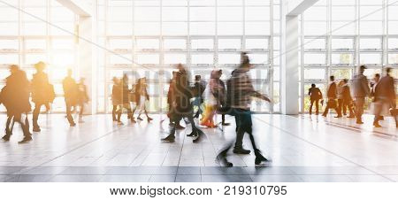 Blurred People At A Trade Show