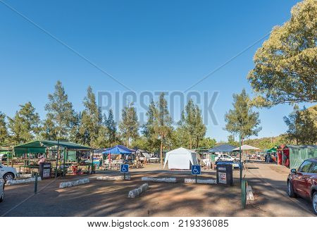 BLOEMFONTEIN, SOUTH AFRICA, DECEMBER 23, 2016: The Boeremark, a flea market with more than 500 stalls operating every Saturday in Langenhovenpark, a suburb of Bloemfontein in the Free State Province