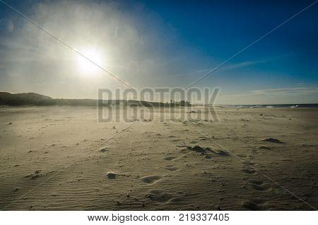 View Of A White Sand Beach In Ceara