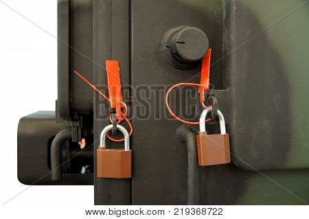 Locks and security seals for sealing of shipping containers in a way that provides tamper evidence