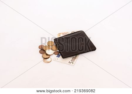 purse with small change for small expenses of the student