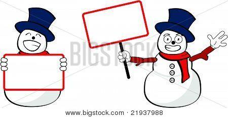 snowman cartoon singboards
