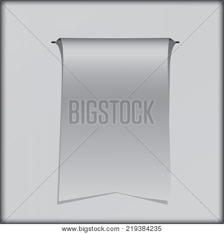 Pennant for design works on a gray background