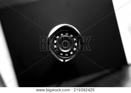 top view of video security camera device