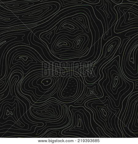Abstract earth relief map seamless pattern topographic background