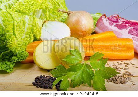 Parzybroda a Polish regional savoy cabbage soup