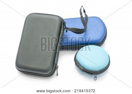 a variety of protection bag with zipper isolated on white