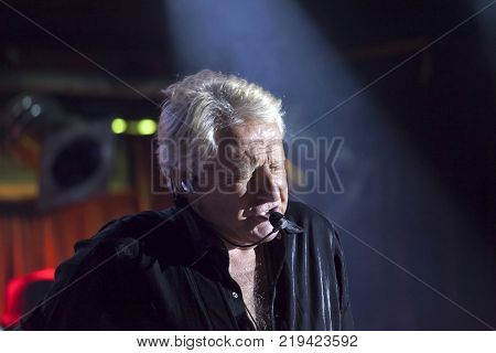 NEW YORK NEW YORK USA - OCTOBER 13: Graham Russell of Air Supply performs at B.B. Kings blues club and grill. Taken October 13 2017 in New York.