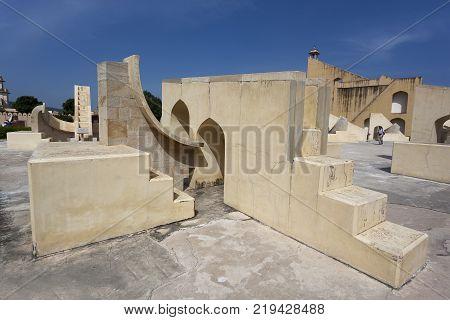 Observatory of Jantar Mantar Jaipur Rajasthan India