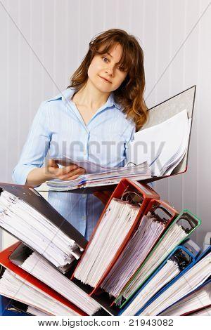 Female Accountant And Financial Documentation