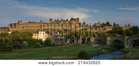 Citadel of Carcassonne in the Aude France