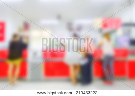 counter top on blur hospital counter background