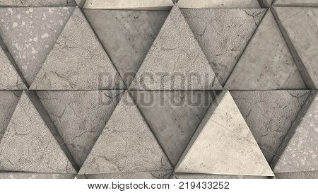 Pattern Of Concrete Triangle Prisms