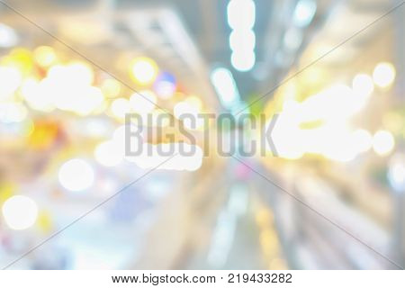 Close up blurred bokeh ligth city abstract background