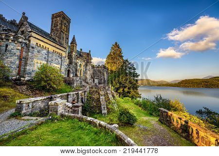 St Conans Kirk located in Loch Awe, Argyll and Bute, Scotland