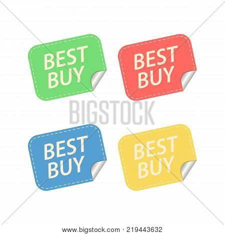Best buy Labels. Isolated on white. Vector illustration