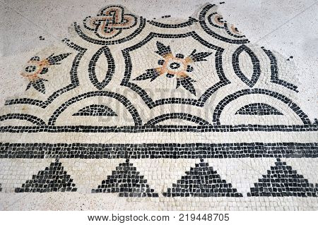 The remains of ancient mosaics found in Lombardy during several excavations - Lombardy - Italy 005