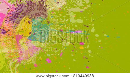 Wide format abstract grunge background. Vector without gradient. Place for text. Paint splashes. Background for presentation business card. Full HD 4K grunge wallpaper. Vector EPS10 with transparency