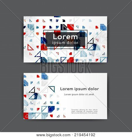 Abstract business card template with geometric elements