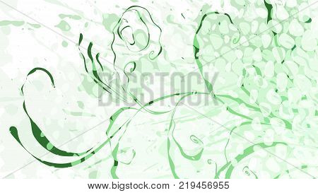 Wide format floral grunge background. Vector EPS10 without gradient with transparency. Place for text. Nature ecology theme. Background for presentation. Full HD 4K floral vector graphic wallpaper.