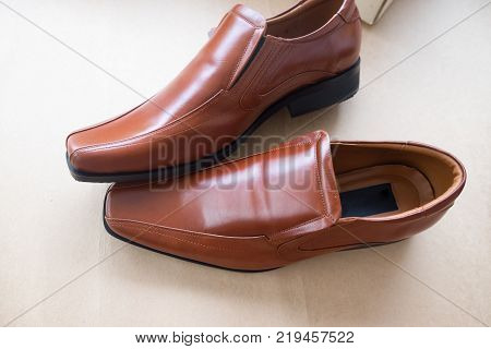 Bridal brown shoes for groom. For wedding event.