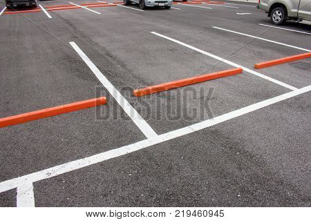 Outdoor parking lot or parking zone for rent.