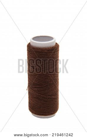 industry object sewing thread on white background