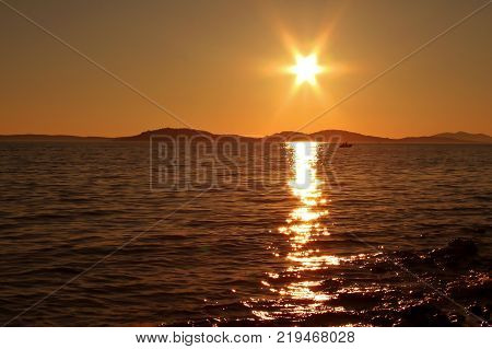 Summer Landscape, Sunset on the Adriatic SeaSummer Landscape / Sunset on the Adriatic Sea