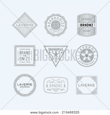 vintage logo, insignia & badges 5. perfect for identity, logo, insignia or badge design with retro vintage looks. it is also good for print design such clothing line, merchandise etc.