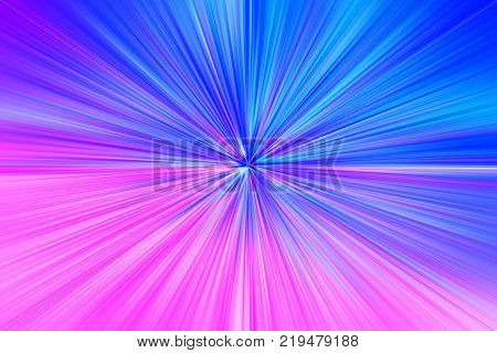 Pink and blue space teleportation blast illustration background hd
